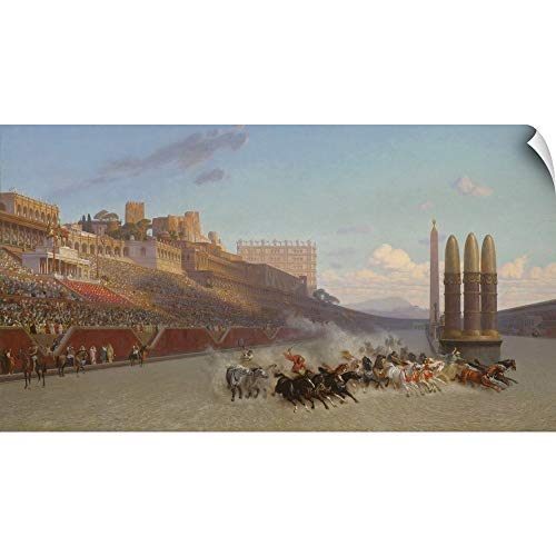 CANVAS ON DEMAND Jean Leon Gerome Wall Peel Wall Art Print Entitled Chariot Race, 1876 60