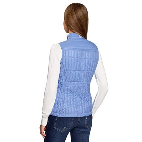 oodji Collection Mujer Chaleco Entallado con Cuello Mao high-quality ... aab15d32120a