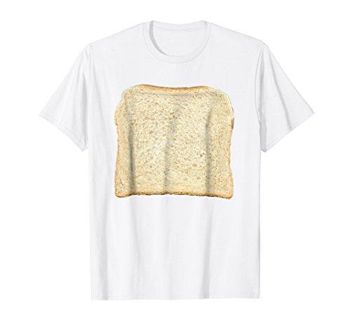 Mens Bread & Toast T-Shirt Halloween Costume Ideas Large White -