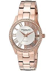 Stuhrling Original Women's 750L.03 Classic Ciara Analog Display Swiss Quartz Rose Gold Watch
