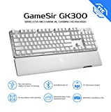 GameSir GK300 Wireless Gaming Keyboard,Connect with 2.4GHz Wireless&Bluetooth,TTC Mechanical Switches, LED 104 Keys