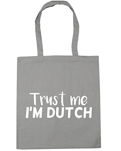 litres 10 Gym me Light HippoWarehouse Shopping I'm Tote Dutch Trust 42cm Grey Bag Beach x38cm xRqPwqY75