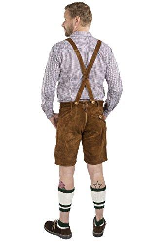 Sch�neberger Men's Bavarian Lederhosen Brown - Oktoberfest Leather Trousers - http://coolthings.us