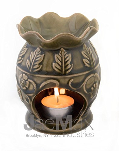 Expressive Scent Ceramic Burner for Oil and Wax Melts - Fragrance Oil Warmer Lamp Green 26-21