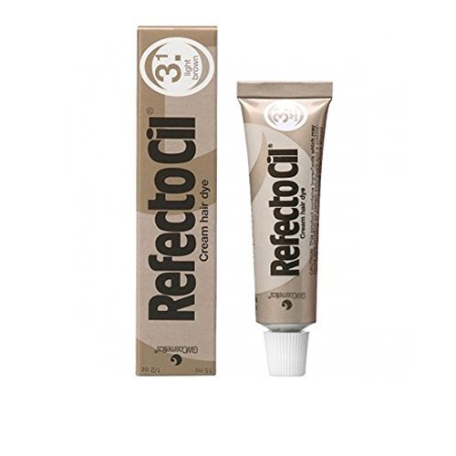 REFECTOCIL Cream Hair Tint Light Brown .5 oz Hair Dye Eyebrows