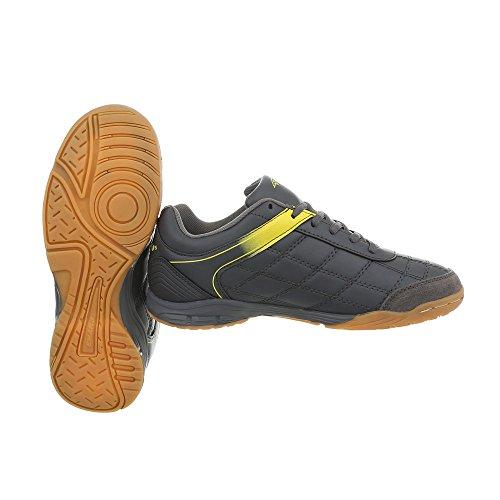 Low S1988c design Mode Chaussures Plat Gelb Espadrilles 1 Femme Sneakers Ital Grau Baskets 81RPPq