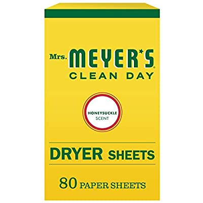 Mrs. Meyer's Clean Day Dryer Sheets, Honeysuckle Scent, 80 count