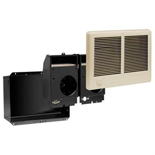 Cadet Com-Pak Twin Plus 16-1/4 in. x 12 in. 3,000-Watt 240 Volt Fan-Forced In-Wall Electric Heater Almond (Dual Centrifugal Blower Wall)