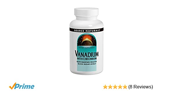 Source Naturals, Vanadium with Chromium 200 mcg 180 Tablets