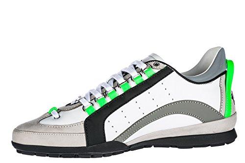 Dsquared2 Herrenschuhe Herren Leder Schuhe Sneakers 551 Weiß