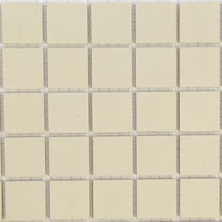 20mm Unglazed Ceramic Tiles Sheet Of 49 Tiles Super White