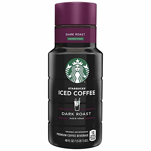 8 Fl Oz Bottles Coffee (Starbucks Dark Roast Iced Coffee, 48 oz)