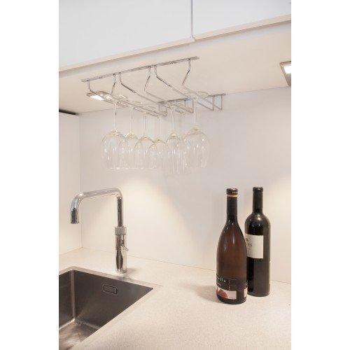 a sospensione o a parete Portabicchieri,//porta calici di vino Copa 34 cm x 32 cm x 5 cm supporto con 3 binari