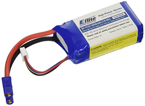 E-flite 1250mAh 3S 11.1V 20C LiPo, 13AWG: EC3, EFLB12503S