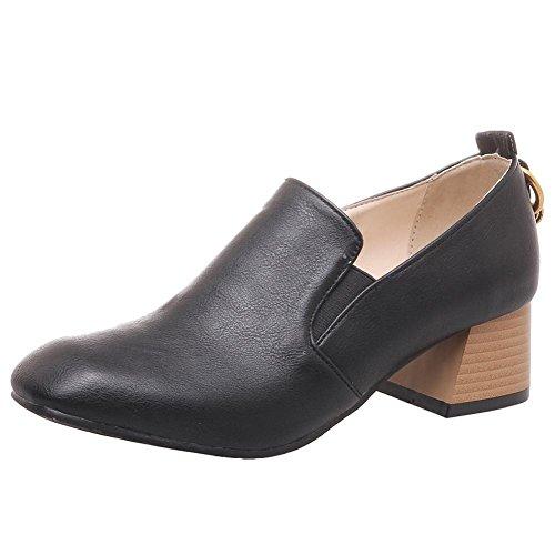 Mee Shoes Damen chunky heels slip on Geschlossen Pumps Schwarz
