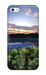 For Iphone Case, High Quality Pebble Beach Tropical Digital For Iphone 5/5s Cover Cases