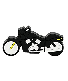 32GB USB Flash Drive Cool Racing Moto Motorcycle Shape 32G Memory Stick U Disk - Black