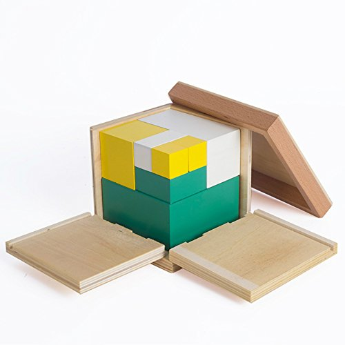 Baby Toy Montessori Math Toys Power of 2 Cube Training Early Educational Preschool Training Kids Toys Brinquedos e Hobbies Math from QLL