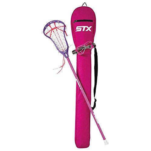 STX Lacrosse Girls' Crux 100 Lacrosse Starter Pack, Orchid/Grape