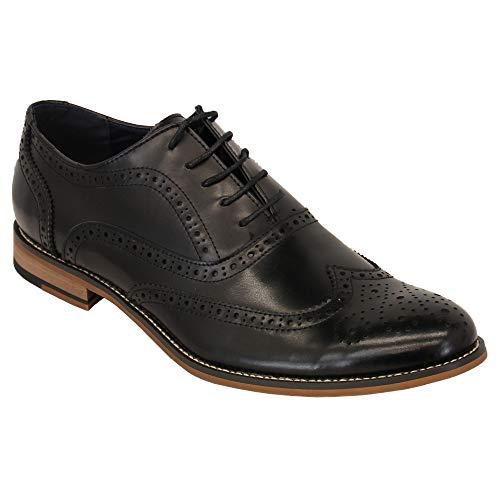 Pointus Chaussures Habillées NoirOxford By Richelieu Lacets À Hommes Cuir Cavani 0P8Onwk