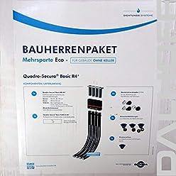 6m Rohr Doyma Bauherrenpaket Mehrsparte Quadro-Secura Hauseinf/ührung f/ür Geb/äude ohne Keller