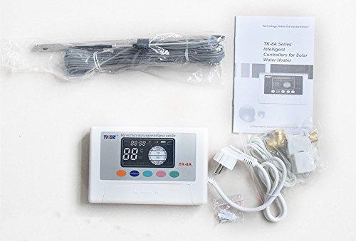 fp-tech fp-tk-08 centralita de gestión Panel Solar Térmico Circulación Natural Agua Caliente: Amazon.es: Bricolaje y herramientas