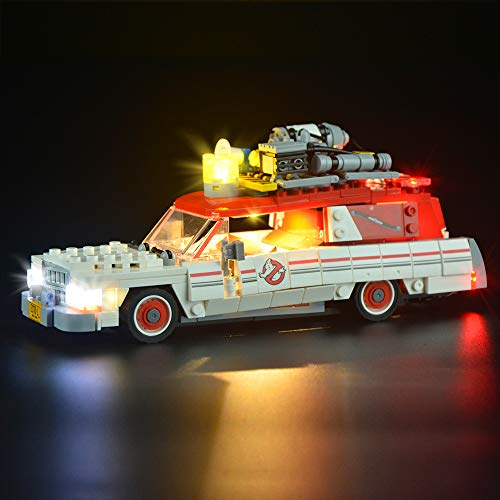 Juego de luces LIGHTAILING para (Ghostbusters Ecto-1 y 2) Modelo de bloques de construcción - Kit de luces LED Compatible con Lego 75828 (NO incluido el modelo)