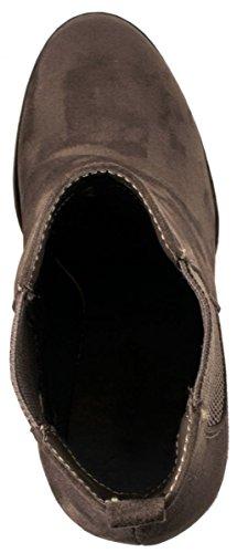 Elara Ankle Boots | Botines moderna Mujer | Block tacón Plateau | chunkyr ayan Khaki Berlin