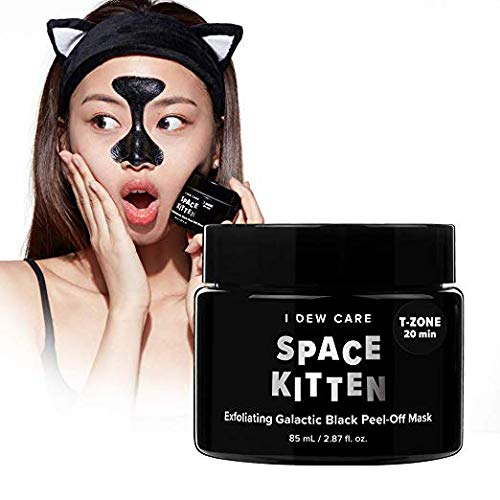- I DEW CARE Magic Chrome Mask Space Kitten 2.87 Ounces, Exfoliating Galactic Peel Off Mask, Peel-Off Mask Shimmers, Brightens Exfoliates Skin, Charcoal Blackhead Remover, Deep Cleanses Pores
