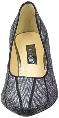 Grey Tacco Donna con Argento Gabor Basic 49 Grigio Scarpe twqW0p