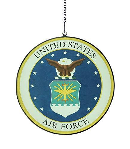 Alivagar USAF Glass Ornament United States Air Force Decal Emblem Design, 6