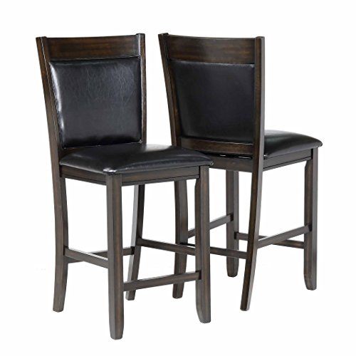 Primo International Hyde Casual Wood Dining Chairs, Dark Napa ()