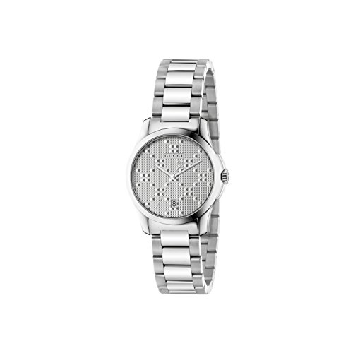 Gucci Women's Swiss Quartz Stainless Steel Dress Watch, Color:Silver-Toned (Model: YA126551)