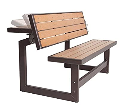 Amazon Com Charming Outdoor Convertible Wood Park Bench Table