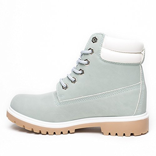 Ideal Shoes, Mädchen Stiefel & Stiefeletten Himmelblau