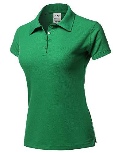 - A2Y Basic Casual 4-Button Junior-Fit PK Cotton Pique Polo Shirt Kelly Green XL