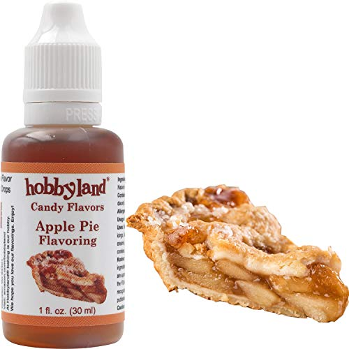 Hobbyland Candy Flavors (Apple Pie Flavoring, 1 Fl Oz), Apple Pie Concentrated Flavor Drops