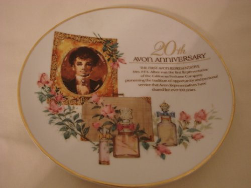 Avon 20th Anniversary Plate Porcelain with 22k gold trim