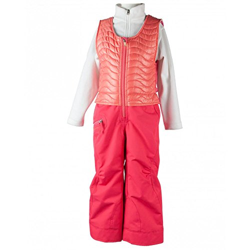 OBERMEYER Girls' Ober-All Bib Snow Island Sunset Red 8 by Obermeyer