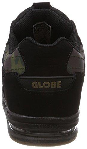 Nero 0 Globe da Fury Black Skateboard Camo Scarpe Uomo w8q718XF