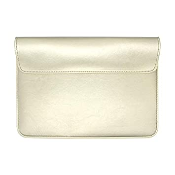 0bc38b5207c Amazon.com  HRH Gold PU Leather Sleeve Case Laptop Bag Cover for ...