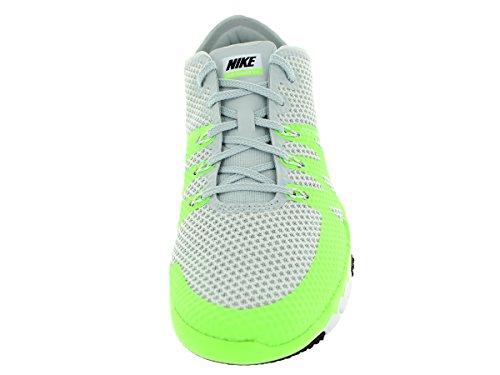Nike Hombres Free Trainer 3.0 V3 Zapato De Entrenamiento Pr Platinum / Blanco / Flsh Lm / Blk