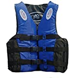 Highdas High Buoyancy Foams Aid Sailing Kayak Adult Swimming Life Jacket Vest Blue/Orange/Green L-3XL
