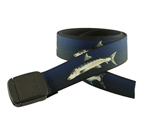 (Hiker Belt Saltwater Fish Patterns Made in USA by Thomas Bates (Grand Slam) )