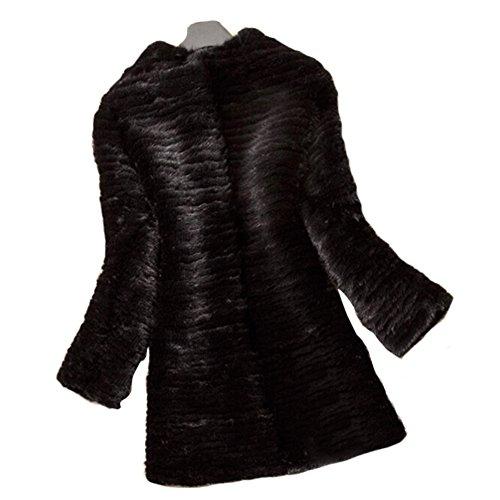 de tricot vison fourrure Queenshiny femme BcRgqA
