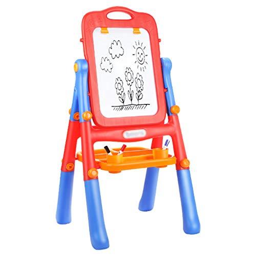 Haodan 電子イーゼル 子供用 図面ボード イーゼル 両面 磁気ライティングボード おもちゃ ベビーカラー グラフィティブラケット 小型黒板 12366