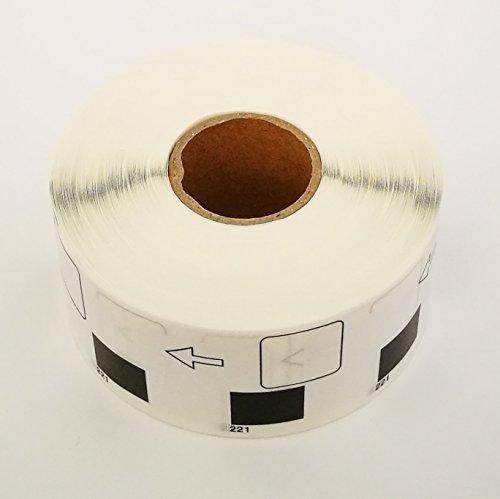 Brother Compatible DK1221 DK-1221 Square Paper Labels (36 rolls + 1 reusable cartridge)