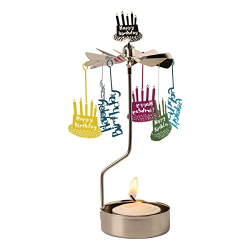 ART & ARTIFACT Happy Birthday Spinning Tea Light Candle Holder ()