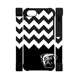 Hoomin Cleveland Browns Black White Chevron iPhone 5 Cell Phone Cases Cover Popular Gifts(Dual protective)