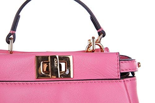 9c8945498e212 Fendi Leder Handtasche Damen Tasche Bag micro peekaboo rosa - die ...